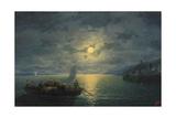Crossing the Dnepr River at Moonlit Night  1897
