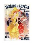 Théatre De L'Opéra, Bal Masqué, 1898-1899 Giclée par Jules Chéret