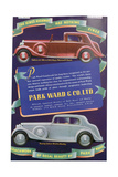 Advert for Park Ward and Co Car Coachwork  1937
