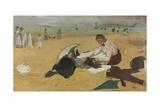 Beach Scene  C 1869