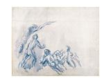 Bathers (Baigneuse), 1904-1906 Giclée par Paul Cézanne