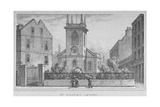 Church of St Olave Jewry  from Ironmonger Lane  City of London  1830
