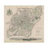 Map of Moscow, 1836 Giclée par W.B. Clarke