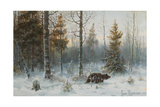Winter Landscape with Bear  1907
