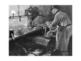 Filling Beer Barrels in an American Brewery  1885