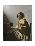 A Young Woman Seated at a Virginal  C 1670