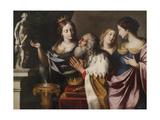 King Solomon's Wives Lead Him into Idolatry Giclée par Giovanni Venanzi Di Pesaro