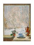 Through the Window in Winter, 1945 Giclée par Konstantin Ivanovich Gorbatov