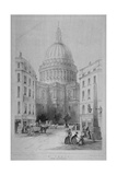 North-East View of St Paul's Cathedral  City of London  1854