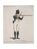 Hackney Volunteer Firing a Rifle  1798
