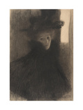 Portrait of a Lady with Cape and Hat  1897-1898