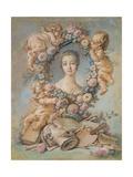 Portrait of the Marquise De Pompadour (1721-176)  1754