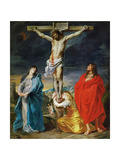 The Crucified Christ with the Virgin Mary  Saints John the Baptist and Mary Magdalene