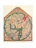 The Hereford Mappa Mundi, (C128), 1912 Giclée par Richard De Bello