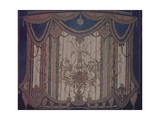 Design of Curtain for the Theatre Play the Masquerade by M Lermontov  1917