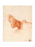 Study of a Warrior's Head for the Battle of Anghiari Giclée par Leonardo Da Vinci