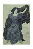Nymph Echo Costume Design for the Ballet Narcisse by N Tcherepnin  1911