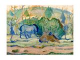 Horses at Pasture (Horses in a Landscap)