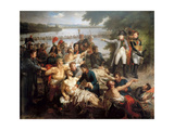 The Return of Napoleon to the Island of Lobau after the Battle of Essling  May 23  1809