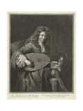 Portrait of the Lutenist and Composer Charles Mouton (C 1626-171)  Ca 1695