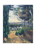 Road Leading to the Lake Giclée par Paul Cézanne