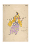 Polovtsian Girl Costume Design for the Opera Prince Igor  1909