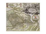 Map of Petersburg (Saint Petersburg Master Pla) Giclée par Jean-Baptiste Alexandre Le Blond