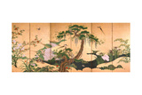 Birds and Flowers of Spring and Summer, Second Half of the 17th C Giclée par Kano Eino