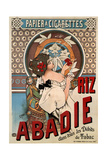 Advertising Poster for the Tissue Paper Abadie  1898