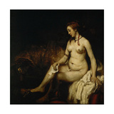 Bathsheba at Her Bath (Bathsheba with King David's Lette)