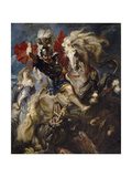 Saint George and the Dragon  1606-1608