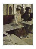 In a Café (Absinth), 1873 Giclée par Edgar Degas