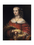 Portrait of a Lady with a Lap Dog  Ca 1665