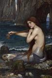 A Mermaid Giclée par John William Waterhouse
