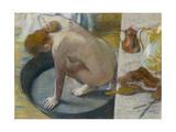 Le tub Giclée par Edgar Degas