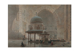 Interior of the Mosque-Madrassa of Sultan Hassan in Cairo