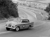 Sunbeam Rapier Racing at Brands Hatch  Kent  1961