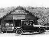 1916 Cadillac V8 Car  Parked Outside a General Store  USA  (C191)