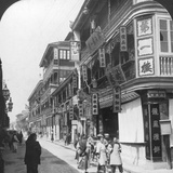 In the Street of the Tea Houses  Shanghai  China  1901
