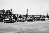 Chevrolet Corvettes at the Sebring 12-Hour Race  Florida  USA  1958