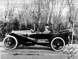A Man at the Wheel of a Hispano-Suiza Alfonso XIII  1914