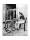 Woman Weaving with Straw on a Hand Loom  Fiesole  Near Florence  Italy  1936