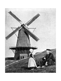 Traditional Dutch Scene with Windmill  Holland  1936