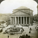 The Pantheon and the Piazza Della Rotunda  Rome  Italy