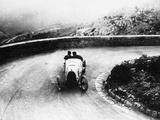 Louis Chiron Driving a Bugatti at a Hill Climb  1923