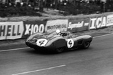 Stirling Moss in an Aston Martin Dbr1  Le Mans 24 Hours  France  1959