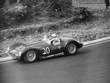 Roy Salvadori Driving a 1953 Maserati at Brands Hatch  Kent  1954