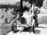Louis Chiron with His Bugatti Type 51  Near Molsheim  Alsace  France  1931