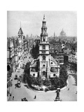 Church of St Clement Danes  the Strand and Fleet Street from Australia House  London  1926-1927