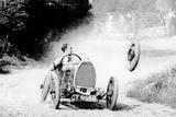 Raymond Mays' Bugatti Loses a Wheel  Early 1930s